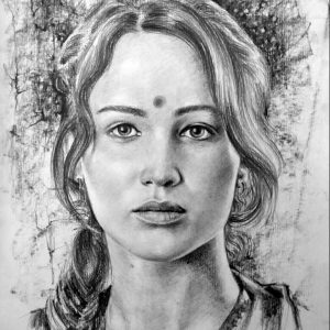 portrait pencil drawing
