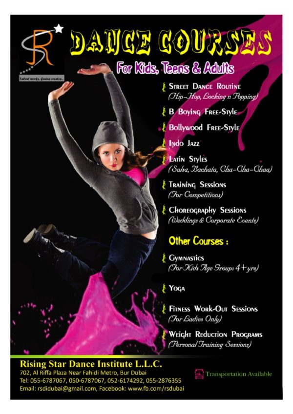 rising stars dances courses for kids and adults