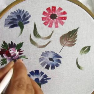 fabric colour painting in barsha