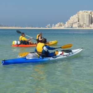 1 hour double kayak in dubai